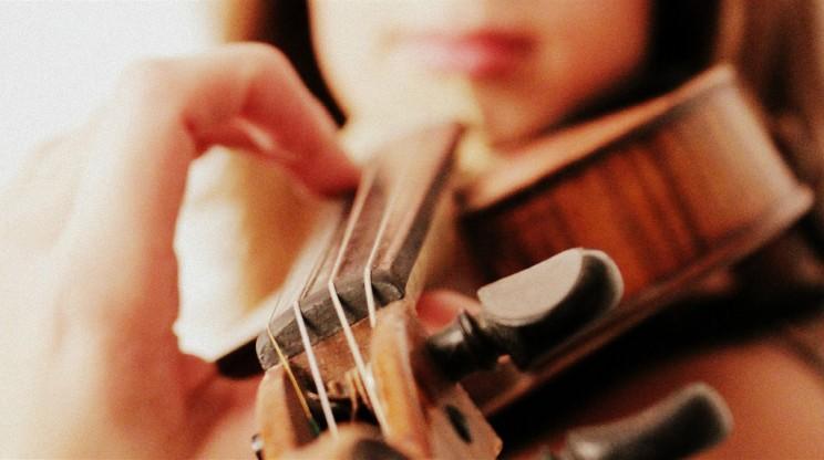 Geigenunterricht der Geigenspielerin Julia Amirova